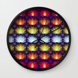 Variations on a Lotus I - Sparkle Brightly Wall Clock