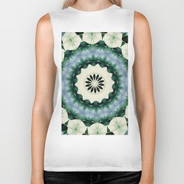 Cerulean Blue and Sacramento Green Mandala Biker Tank
