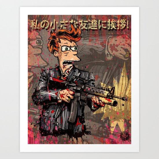 Fryface Art Print