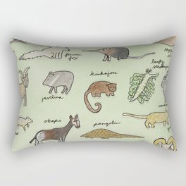 The Obscure Animal Alphabet Rectangular Pillow