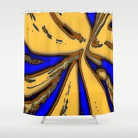 drum Shower Curtains featuring Caramel Drum by Stars Live Forever