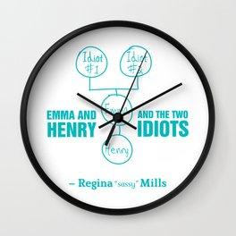 Regina Sassy Mills | The two idiots Wall Clock