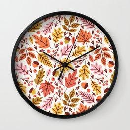 Leaves & Acorns Wall Clock