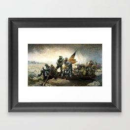 Master Chief Crossing the Delaware Framed Art Print