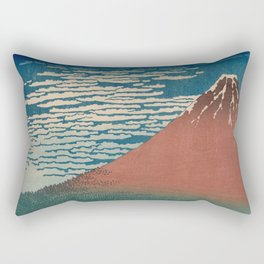 Fine Wind, Clear Weather also known as Red Fuji Rectangular Pillow