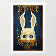 Rapture Masquerade Ball 1959 Art Print