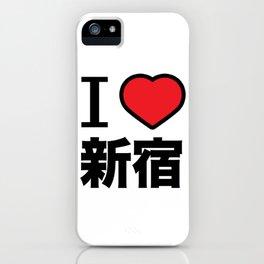 I Love Shinjuku iPhone Case