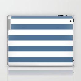 Blue and White Stripes Laptop & iPad Skin