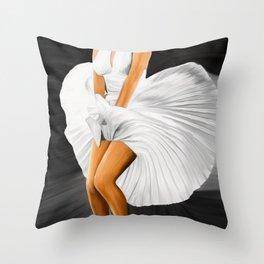 The Legend No2, blonde Throw Pillow