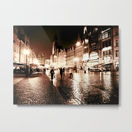 Wroclaw by night 3 Metal Print