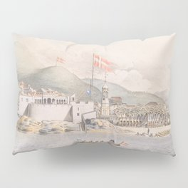 Vintage Pictorial View of Christiansted St Croix (1839) Pillow Sham