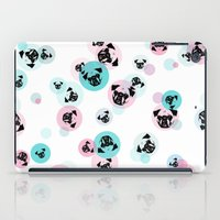 pugs iPad Cases featuring Fizzy Pugs by Pets & Threads