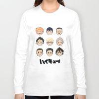 haikyuu Long Sleeve T-shirts featuring Haikyuu!! by parkers