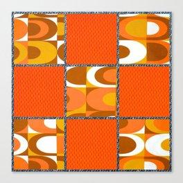 Orange Retro Vibes Canvas Print