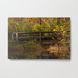 Bridge Over Peaceful Water Metal Print