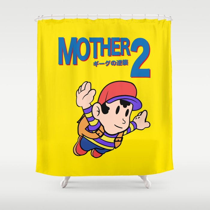 Mother 2 Earthbound Super Mario Bros 3 Style Shower Curtain