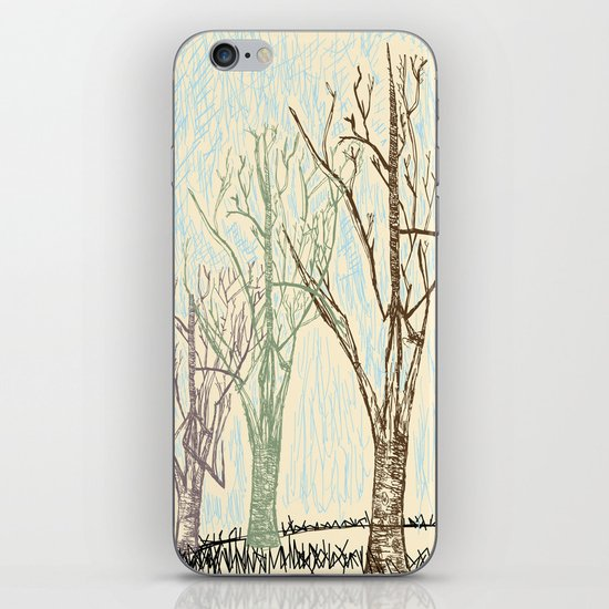 A Winters Sketch iPhone & iPod Skin