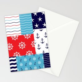 Beautiful Patch 10 (Nautical) Stationery Cards