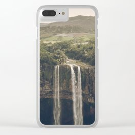 Waterfall 03 Clear iPhone Case