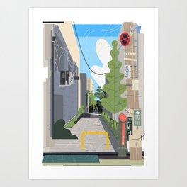 Japan Still Life 003   路地 Art Print