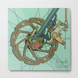 Brakes Metal Print