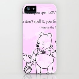 Pooh -  Spell Love... 15 iPhone Case