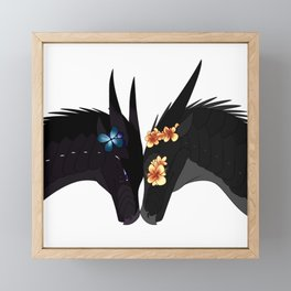 Wings of Fire - Dragon Flame Framed Mini Art Print