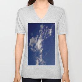 Clouds and sky II-cloud,sky,skies,vapor,fog,mist,cloudscape,nube,atmosfera,atmosphere,cielo,air Unisex V-Neck
