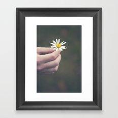 Flowers for your hair Framed Art Print