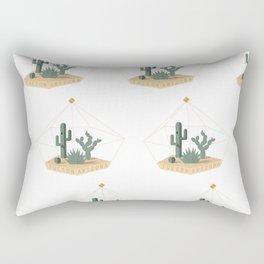 Tucson Arizona Cactus Terrarium Rectangular Pillow
