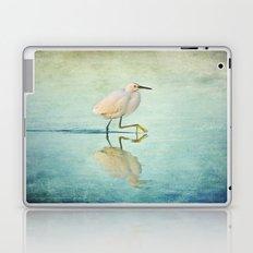 Snowy Egret Laptop & iPad Skin