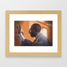 The musical director Framed Art Print