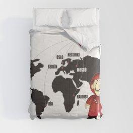 La casa de Papel Money Heist Map Comforters