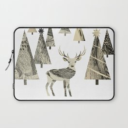 Winter Woods, collage Laptop Sleeve