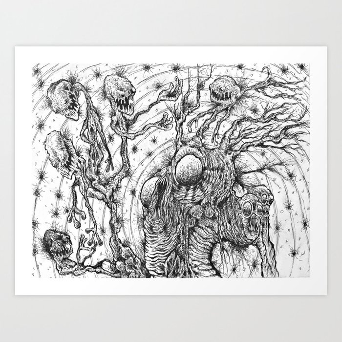 Gathering of lost souls Art Print