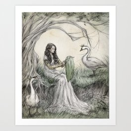 The Wild Swans Art Print