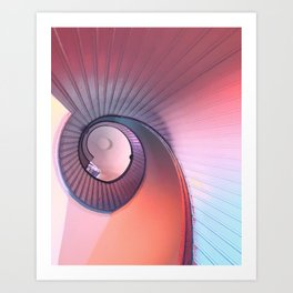 spiraling spectrum Art Print