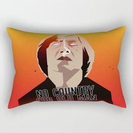 No Country For Old Man Poster Rectangular Pillow