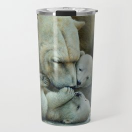 """Nanuk family"" Polar bear by Claude Thivierge Travel Mug"