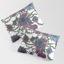Chaotic Blooms Pillow Sham