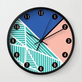 B Rays Geo 4 Wall Clock