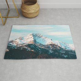 Snowy mountain Rug