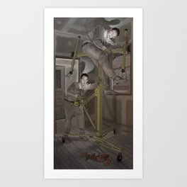 Drywall Lift Demonstration Art Print