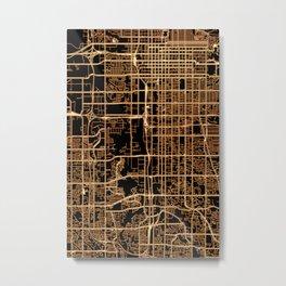 Salt Lake City map Metal Print