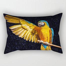 Brazilian Tropical Macaw photograph as known as Arara Azul. Rectangular Pillow