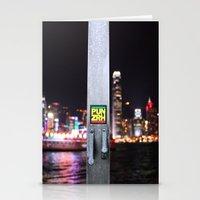 hong kong Stationery Cards featuring Hong Kong  by Chernyshova Daryna