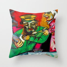 Marc Chagall Spoonful of Milk Throw Pillow