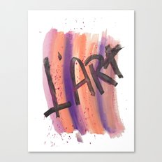 L' ART Canvas Print