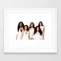 fifth harmony Framed Art Prints featuring Fifth Harmony by Raquel S