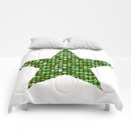 Sparkling Star,green Comforters